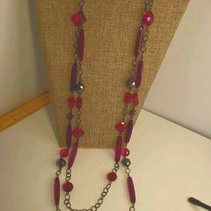 NY & Co. Purple Beaded Necklace